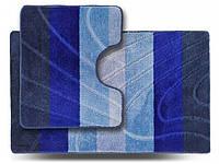 Комплект ковриков для ванной Darina ColorLine синий 60х100см + 60х50см, фото 1