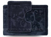 Комплект ковриков для ванной Darina ECONOM серый 55х80см + 55х42см