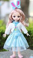 Платье голубое и аксессуары для шарнирной куклы для BJD 1/6, 26-30 см