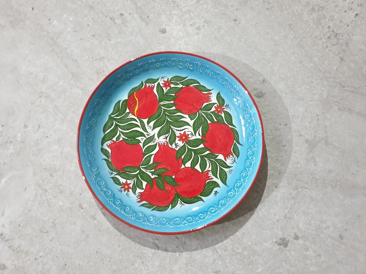 Узбекская посуда.  ляган для плова. риштан 38см