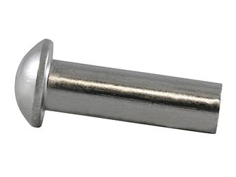 Заклепки с полукруглой головкой стальные DIN 660 (Все размеры в описании)