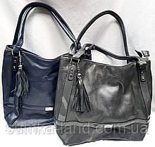 Жіночі сумки-торба на плече з штучної шкіри на 2 змійки 29*29 см