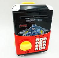 Копилка сейф, детский банкомат с кодовым замком NUMBER BANK Premium, фото 1