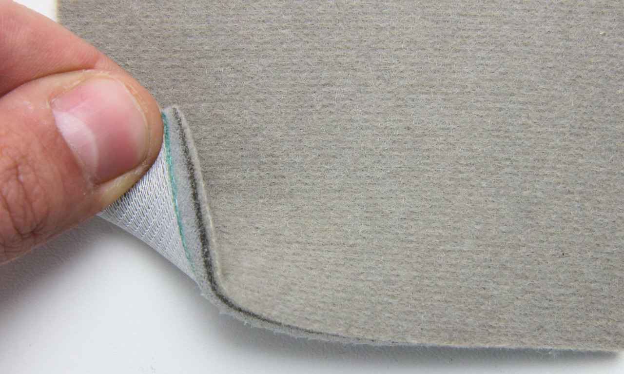 Автоткань оригинальная для боков сидений (серый беж 2308), основа на поролоне, толщина 5мм, шир 140см