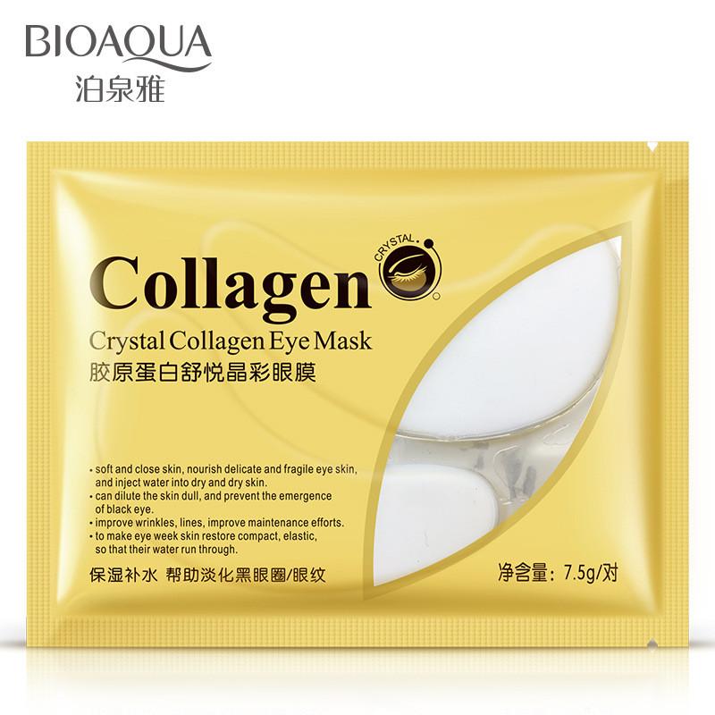 Гидрогелевые патчи под глаза с коллагеном Bioaqua Crystal Collagen Eye Mask, 7.5г