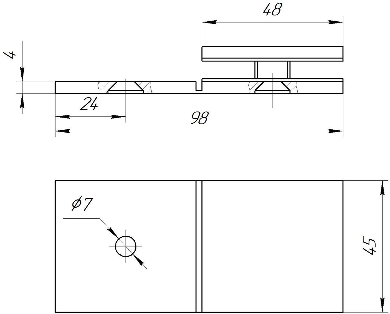 ODF-01-22-21 соединитель стекла к стене с регулировкой угла, черный RAL 9005