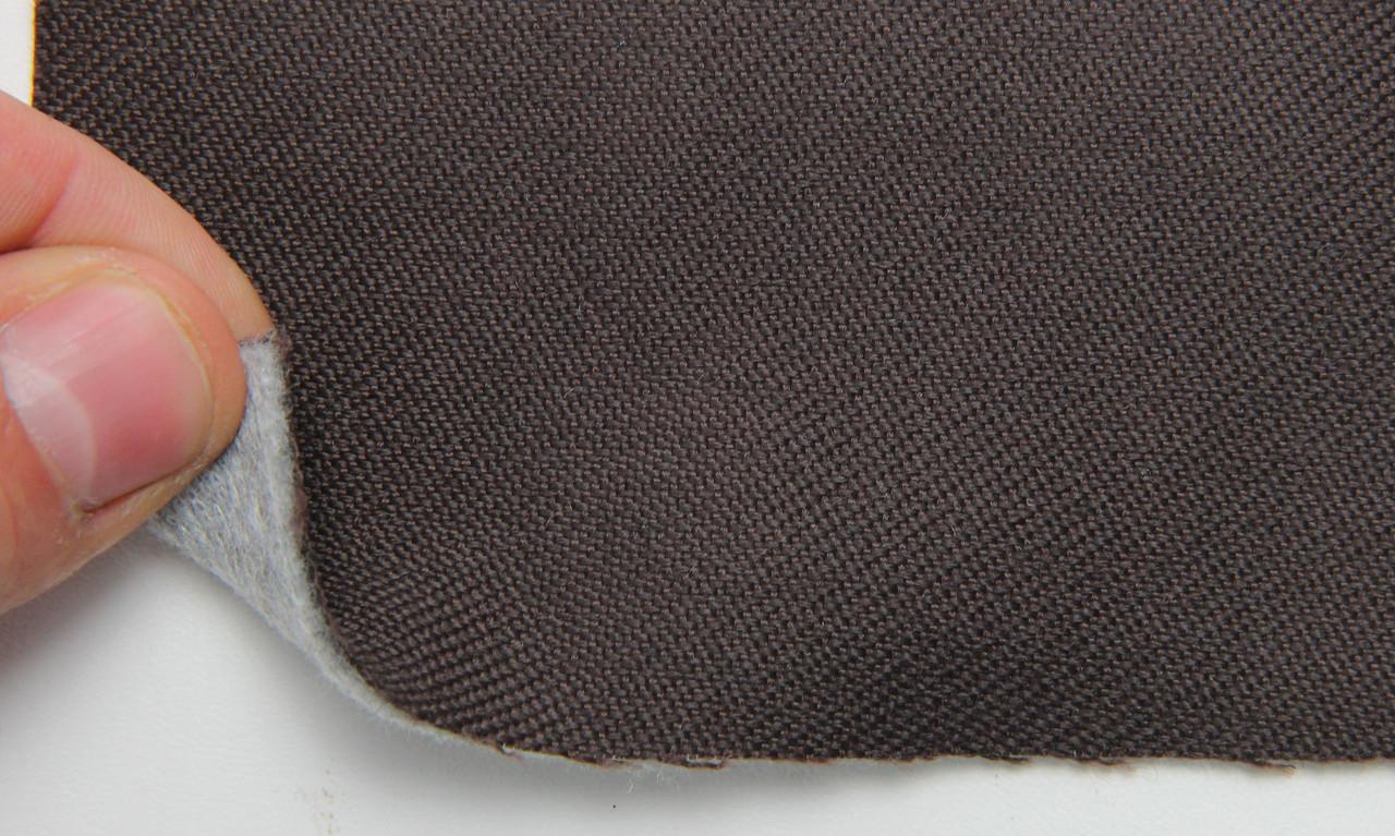 Автоткань оригинальная для боков сидений (темно-коричневой 3005), основа на войлоке, толщина 3мм, шир 140см