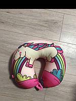 Подушка Единорог под голову для путешествий, подушка подкова, фото 1