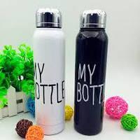 Термос 9045 My Bottle, 320 мл, пищевая сталь, для любых температур, термос-бутылочка, фото 1