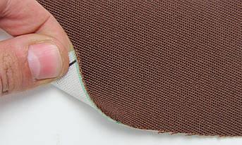 Автоткань оригинальная для боков сидений (коричневой 3401), основа на поролоне, толщина 1мм, шир 140см