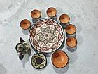 Узбекский сервиз 3D техники, ручной работы из красной глины. 10 предметов, фото 8