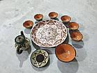 Узбецький сервіз 3D техніки, ручної роботи з червоної глини. 10 предметів, фото 6