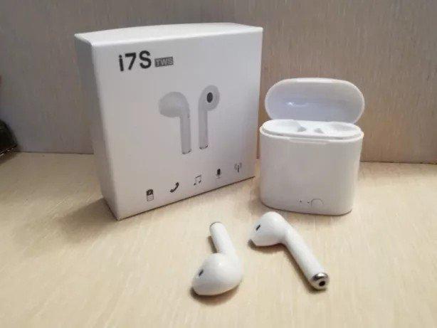 Беспроводные наушники в кейсе Iphone Apple Double TWS I7S!
