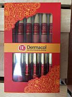 Набор Dermacol DC матовые помады + блеск для губ матовый 12+12 Новинка!, фото 1