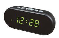 Часы сетевые VST-712-2 green, фото 1