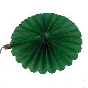 Веерный круг (тишью) 25см (темно зеленый 0026)