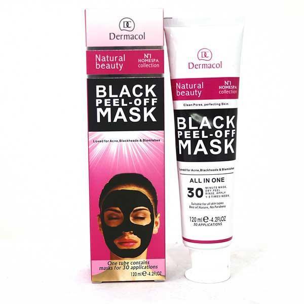 Черная маска для лица Dermacol Black Peel Off Mask в тюбике 120мл. против Угрей и Черных Точек