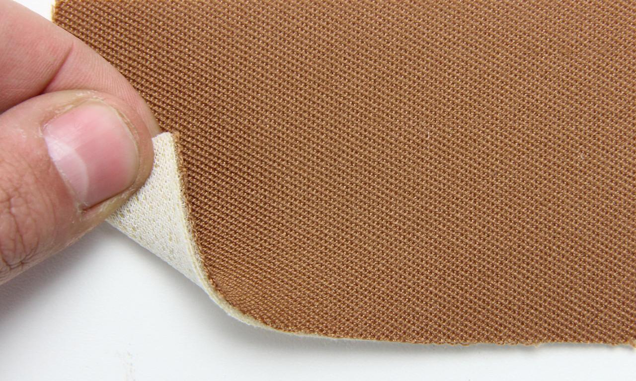 Автоткань оригинальная для боков сидений (светло-коричневый 3407), основа на поролоне, толщина 3мм, шир 140см
