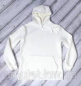 Худи UNISEX утепленное  цвет белый S M L XL При заказе от 2шт скидка