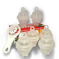 Формы для варки яиц без скорлупы Eggies (6 шт. + сепаратор), фото 1
