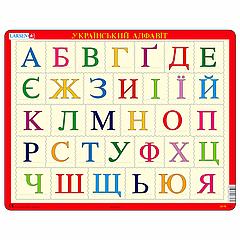 Пазл Larsen рамка-вкладыш Азбука (украинская) серия Макси (LS13)