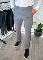 Чоловічі штани сірі приталені