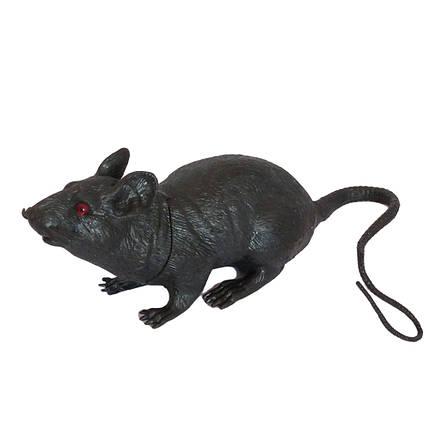 Резиновая Крыса 18см (черная) 818316765, фото 2