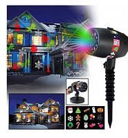 Проектор Star Shower projection outdoor light halloweeen 12 слайдов + пульт, фото 1