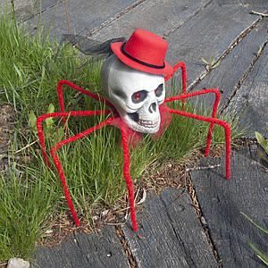 Паук череп Королева тьмы 72см (красный) 09950