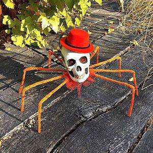 Паук череп Королева тьмы 72см (оранжевый) 09953