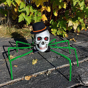 Паук череп Король тьмы 72см (зеленый) 09948