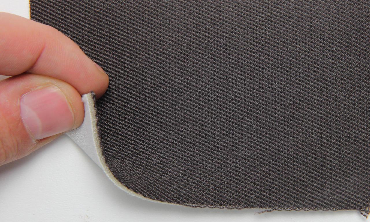 Автоткань оригинальная для боков сидений (темно-коричневой 3410), основа на поролон, толщина 3мм, шир 140см