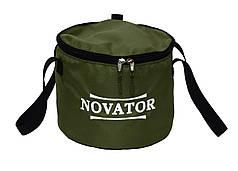 Ведро для прикормки с кришкой Novator VD-2 (30x23 см)