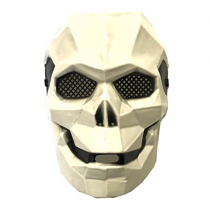 Маска пластик Киборг череп (белый), фото 2