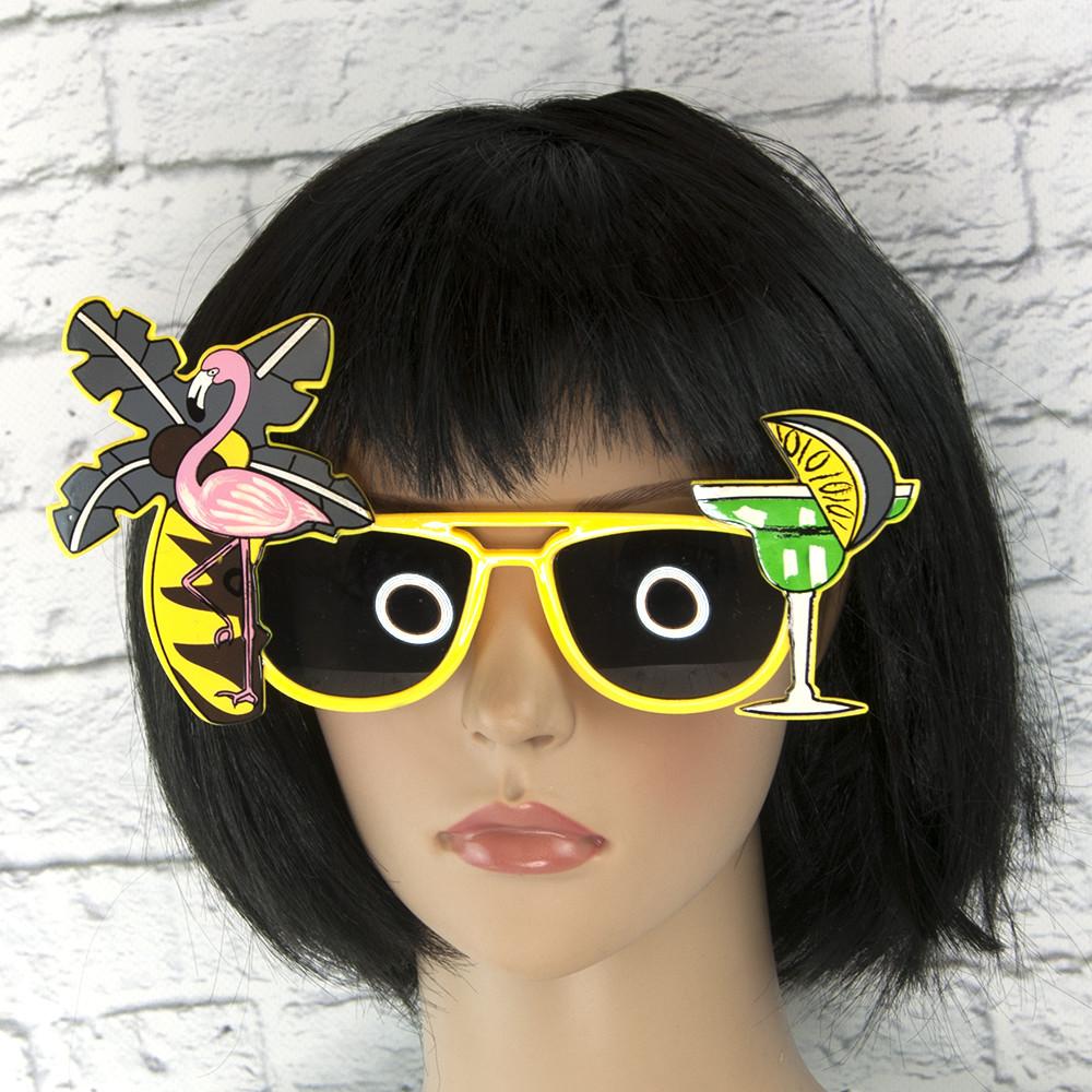 Очки Коктейль (желтые)