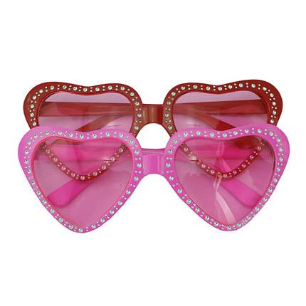 Очки Сердце со стразами (розовые), фото 2