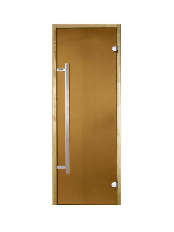 Стеклянная дверь Harvia бронзовая 70x190 см для бани и сауны (с вертик. ручкой)