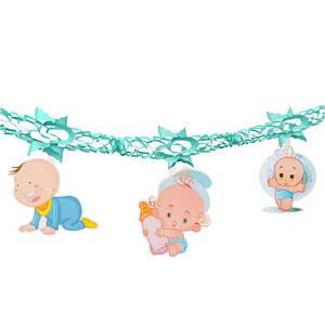 Гирлянда 3D Boy с подвеской Новорожденный