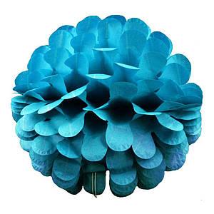 Бумажный шар цветок 30см (лазурный 0003)