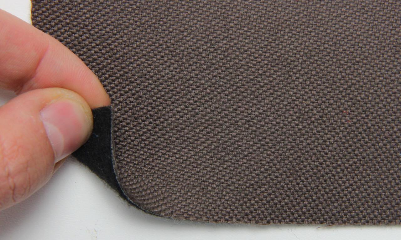Автоткань оригинальная для боков сидений (темно-коричневой 7413/1), основа на войлоке, толщина 3мм, шир 140см