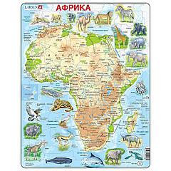 Пазл Larsen рамка-вкладыш Карти Африки с животными серия Макси (A22-RU)