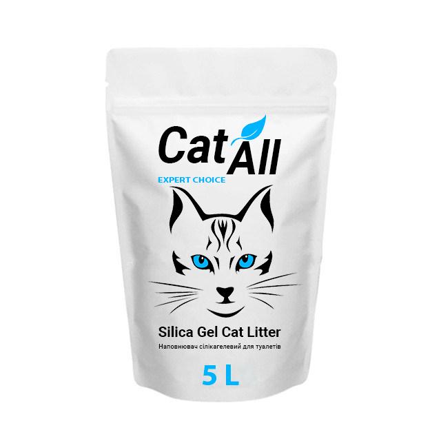 Наполнитель силикагелевый для кошачьего туалета TM CatAll 5 л (2,1 кг)