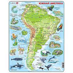 Пазл Larsen рамка-вкладыш Карта Южной Америки с животными серия Макси (A25-RU)