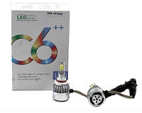 Комплект LED ламп C6 в туманки 9005, фото 1