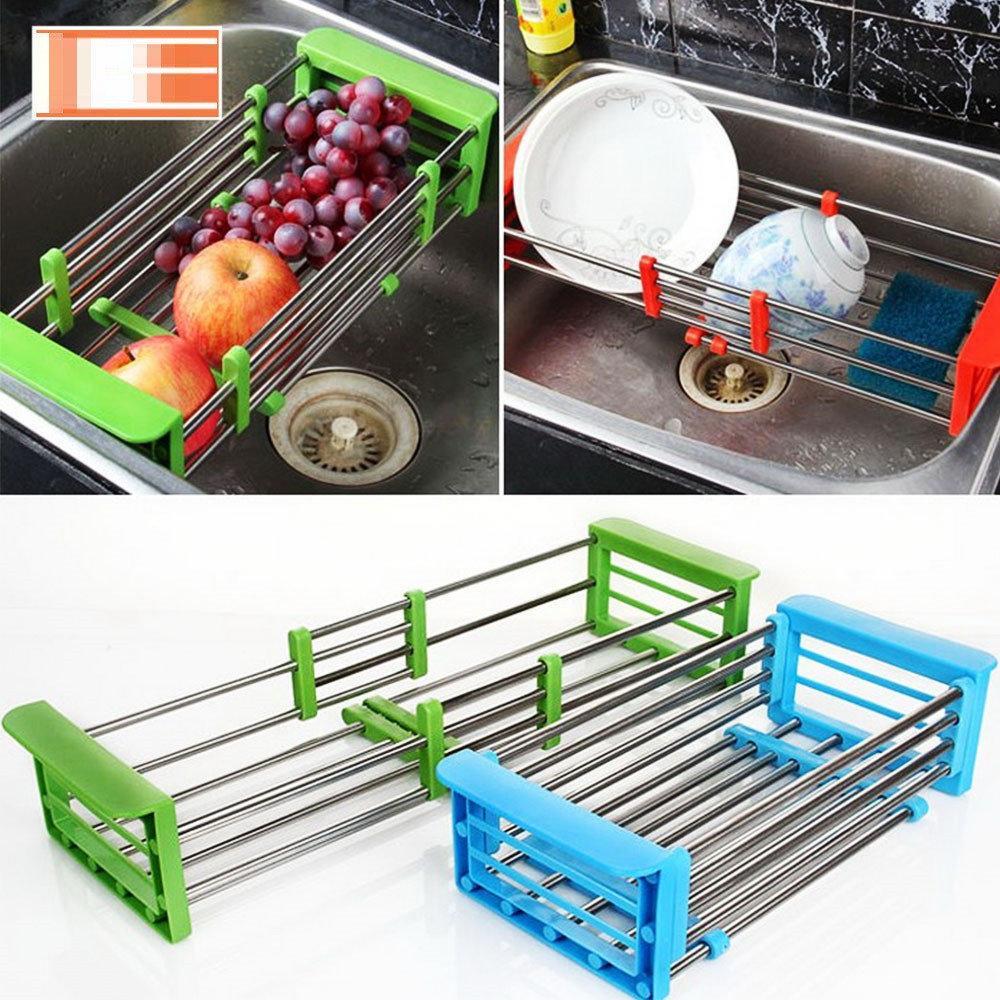 Многофункциональная Складная Кухонная Полка Kitchen Drain Shelf Rack ( Зеленая)