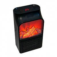 Портативный мини тепловентилятор, обогреватель Камин Flame Heater 1000Вт с пультом