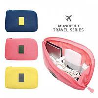 Органайзер дорожный для зарядок и прочих мелочей Monopoly Cable Pouch Розовый, фото 1