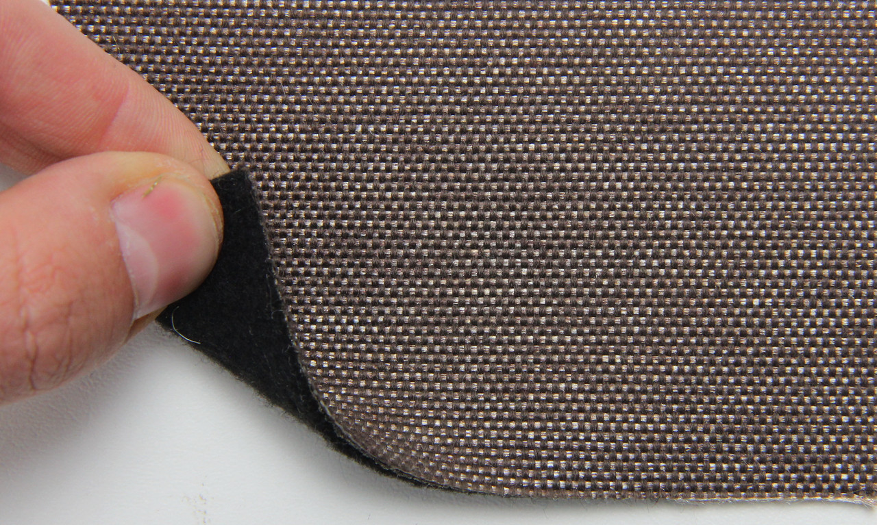 Автоткань оригинальная для боков сидений (коричневой 7413/4), основа на войлоке, толщина 2мм, шир 140см