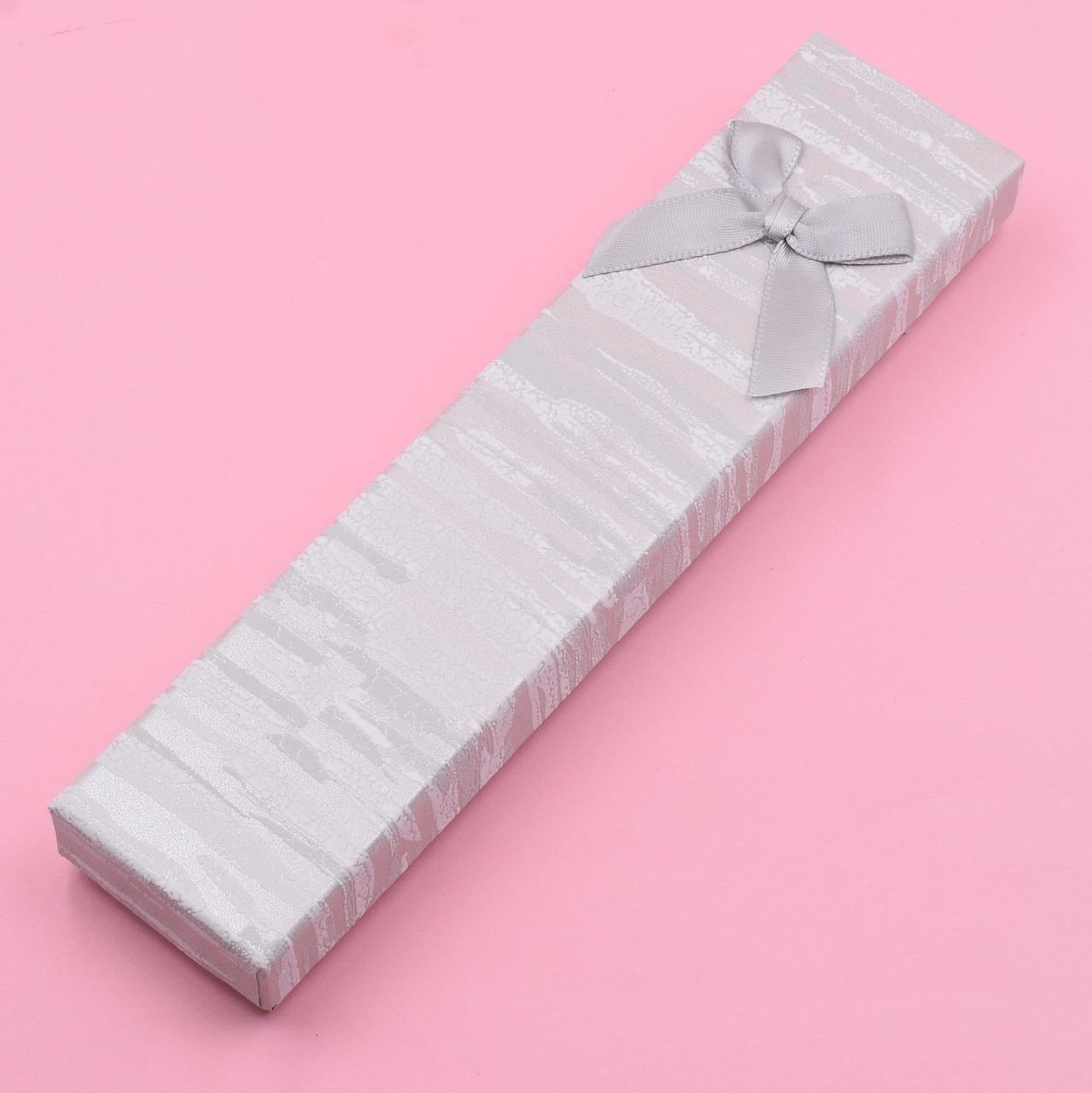 Футляр серый 741179 для цепочек браслетов размер 21х4 см