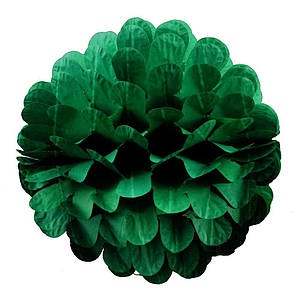 Бумажный шар цветок 20см (малахитовый 0016)